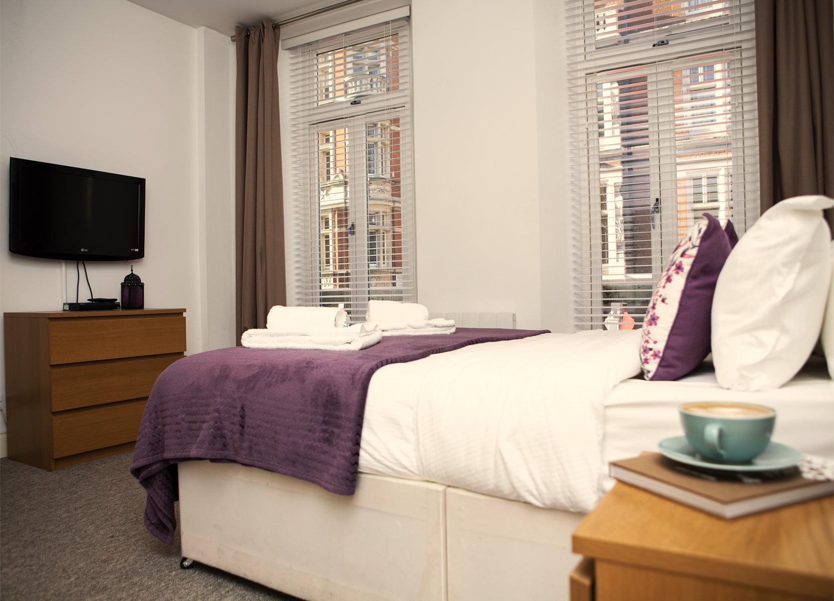 Trafalgar Square Serviced Apartments, Apartment 1, Covent Garden - Bedroom