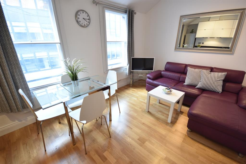 Soho Apartments (130 Wardour Street) - Apartment 4 Living Area